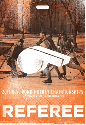 referee credential pass for US pond hockey championships