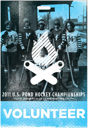 volunteer credential pass for US pond hockey championships