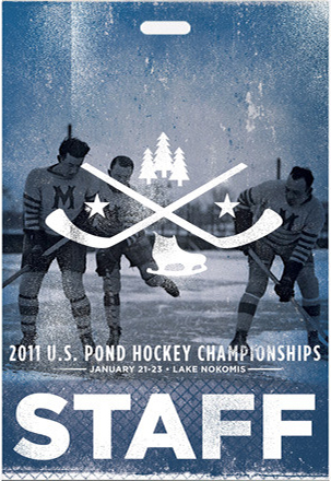 staff credential pass for US pond hockey championships