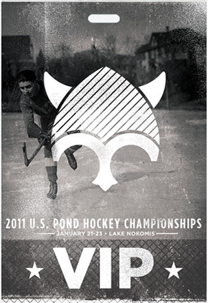 VIP credential pass for US pond hockey championships