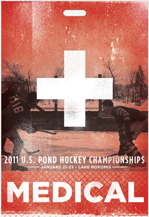 medic credential pass for US pond hockey championships
