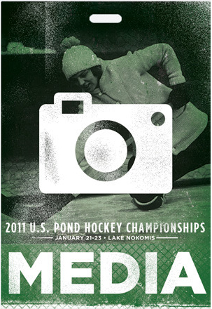 media credential pass for US pond hockey championships