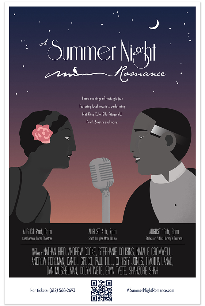 Poster for a romantic musical event