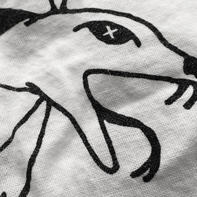 Detail of bandanna design for Signs of Resistance Protest show